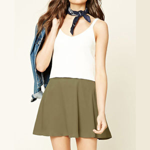 New With Tag Olive Mini Skater Skirt